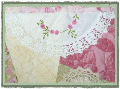 Detail of Tea Rose Quilt