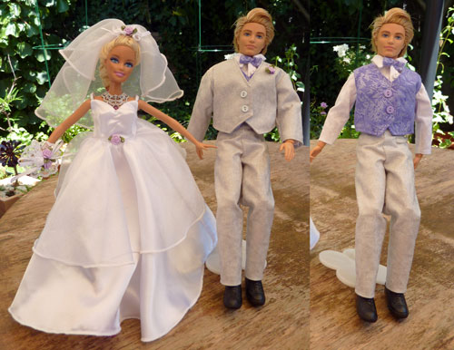 Purple Barbie and Ken