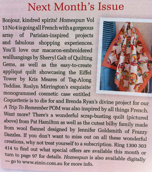 March Homespun Magazine