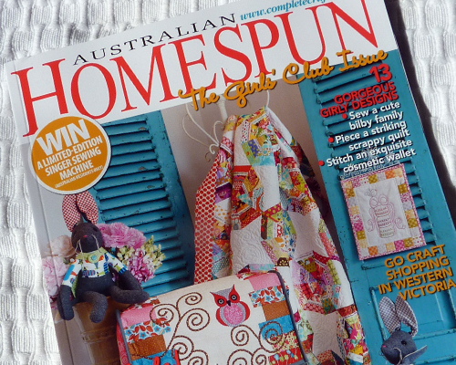 April Homespun Cover