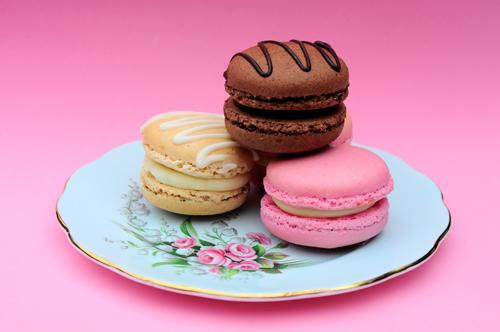 Macaron's on plate