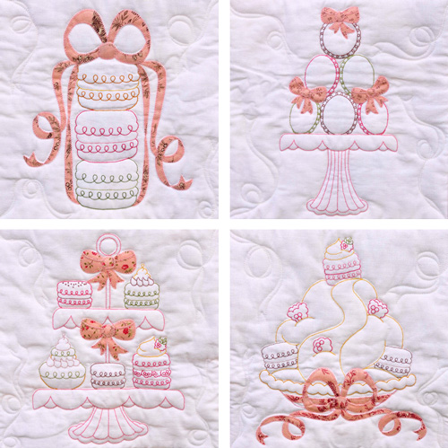 Set of Macaron Stitcheries