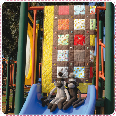 Funky Monkey Baby Quilt Pattern Sewing Patterns For Baby